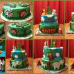 Jungle Themed 1st Birthday Cake and Smash Cake