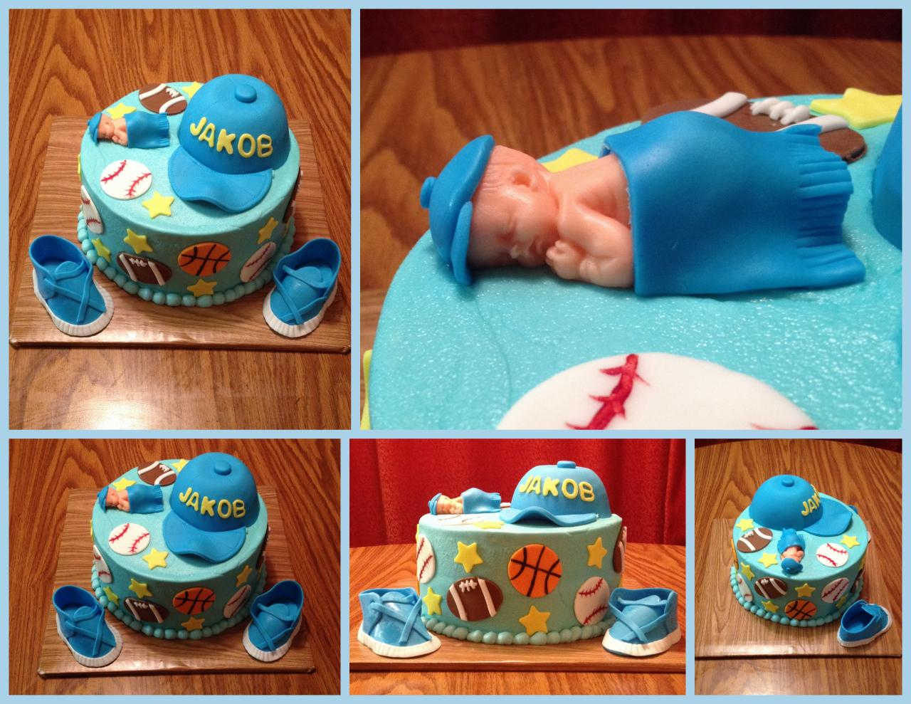 ... Sports Themed Baby Shower Cake ...